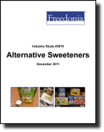 Alternative Sweeteners  - The Freedonia Group - Industry Market Research