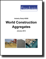 World Construction Aggregates  - The Freedonia Group - Industry Market Research
