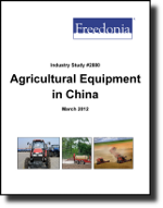 Agricultural Equipment in China  - The Freedonia Group - Industry Market Research