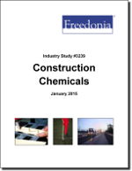 Construction Chemicals - The Freedonia Group - Industry Market Research