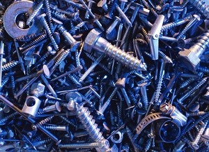 Silver Screws and Bolts