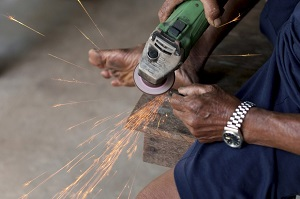 Power Tool with Sparks