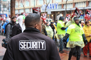 Security-Officer-In-Crowd