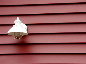 Siding with Lamp