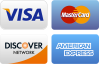 We accept Master Card, Visa, American Express and Discover