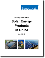 Solar Energy Products in China  - The Freedonia Group - Industry Market Research