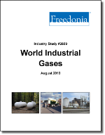 World Industrial Gases - Demand and Sales Forecasts, Market Share, Market Size, Market Leaders