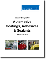 Automotive Coatings, Adhesives & Sealants  - The Freedonia Group - Industry Market Research