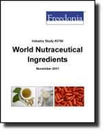 World Nutraceutical Ingredients  - The Freedonia Group - Industry Market Research