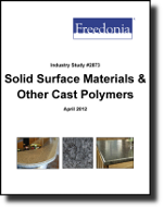 Solid Surface & Other Cast Polymers - Demand and Sales Forecasts, Market Share, Market Size, Market Leaders