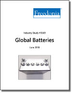 Global Batteries by Product and Market, 11th Edition - The Freedonia Group - Industry Market Research