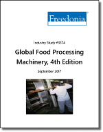 Global Food Processing Machinery by Type and Region, 4th Edition - The Freedonia Group - Industry Market Research