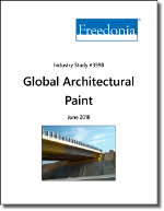 Global Architectural Paint by Market, Formulation and End User, 13th Edition - The Freedonia Group - Industry Market Research