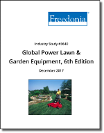Global Power Lawn & Garden Equipment by Product, Power Source, Market and Region - The Freedonia Group - Industry Market Research