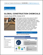 Global Construction Chemicals - Demand and Sales Forecasts, Market Share, Market Size, Market Leaders