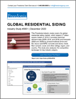 Global Residential Siding - Demand and Sales Forecasts, Market Share, Market Size, Market Leaders