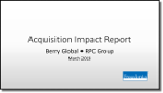 Acquisition Impact Report: Berry Global/RPC Group - The Freedonia Group - Industry Market Research