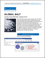 Global Salt - Demand and Sales Forecasts, Market Share, Market Size, Market Leaders